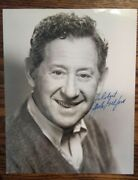 Jack Gilford Autograph - Signed And Inscribed Vintage 8 X 10 B/w Photograph
