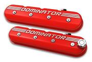 Holley Tall Ls Dominator Valve Covers - Gloss Red Machined Finish 241-121