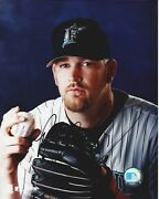 Ryan Dempster Autographed 8x10 Florida Marlins Free Shipping B180
