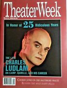 Theater Week Magazine 3'92 Charles Ludlum Camp Drag New York Theater Collectible