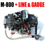 Quick Fuel M-800 Mech Gas Electric Choke Marine With J-tubes And Line Gauge Kit