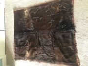 Vintage Horse Hair Carriage Sleigh Blanket Over 100 Years Old 58x67