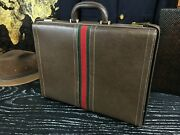 Italy Rustic Diplomat Leather Briefcase Business Hard Case Attache Mens
