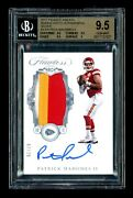 2017 Panini Flawless Patrick Mahomes 2/20 Silver Rookie Patch Auto Bgs 9.5/10