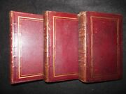 The Book Of Gems British Poets And Artists - 1837 3 Volume Set Leather Bound