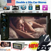 Car Stereo Cd Dvd Player Double 2din Fm Mirror Link For Gps Navigation W/ Camera