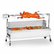 Outdoor Cooker Grill 46 Large 28w Stainless Steel Bbq Spit Roaster Rotisserie