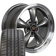 Fits 18 Anthracite Bullitt Wheel And Ironman Tire Set Fits Ford Mustang