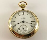 Antique Illinois Pocket Watch 17 Jewels 18 Size Gold Fill S/n 1798414 Ca.1905