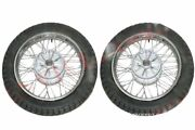 New 2 Complete Front Rear 16 36 Holes Wheel Rim With Tyre Tube For Jawa S2u