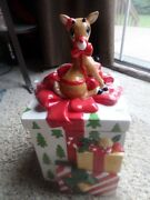 2002 Lenox Rudolph The Red Nose Reindeer Christmas Present Cookie Jar Preowned