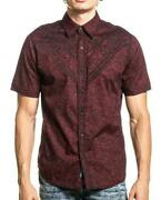 American Fighter Menand039s Button Down Shirt Tollerate Biker Mma