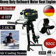 4 Stroke 4hp Outboard Engine Motor 2800w 52cc Fishing Boat Motor Cdi Air Cooling