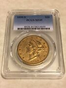 1859-s Xf45 Pcgs Liberty Double Eagle Type 1 20 Gold Coin