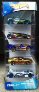 Hot Wheels Zero-g 5-car Gift Pack Die-cast Cars New, Complete 2002