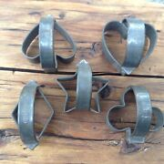 5 Antique Fries Tin Cookie Cutters