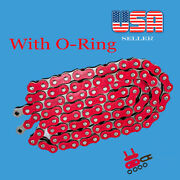 Red Chain Color 520 X 120 With O-ring Fitmost Yamaha Motorcycles