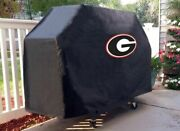 Georgia Grill Cover With Bulldogs And039gand039 Logo On Black Vinyl