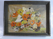 Nice Onemid Century Floral Still Life Signed Max Could This Be Peter Max13x10