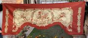 19th Antique Aubusson French Tapestry Hand Woven Silk Fringe 87 X 210 Cm