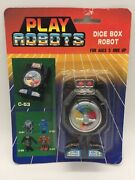 Vintage Dice Box Robot Toy Transformer Play Robots 1980's Made In Taiwan Moc