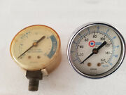 Lot Of 2 Vintage Gauges Lomart Pool Filters And Accessories And Coilhose Pneumatics