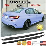 Fit For Bmw 3 Series G20 2019-2021 M Sport Bumper Style Black Side Skirts
