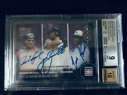 On-card Triple Autograph /25 2017 Hall Of Fame Class Topps Now Bgs Mint 25/25