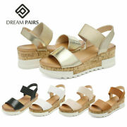 Dream Pairs Womenand039s Ankle Strap Open Toe Casual Platform Wedge Sandals