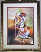 """Framed. Hand Signed Limited Edition, """"mulan, Chinese Warrior"""" By Zhang Xing."""