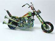 Zax Hand Painted One Of A Kind Harley Davidson Sculpture