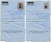 Ghana 1957 Independence Opts On Stationery Aerogrammes To Usa...accra...poultry