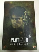 Hot Toys Mms 135 Platoon Chris Taylor Charlie Sheen 12 Inch Figure New