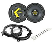 Kicker 46csc654 6.5 Speaker Package With Speaker Adapter And Harness