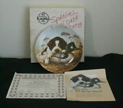 Vintage Edwin M Knowles Dog Tired - The Springer Spaniel Collector's Plate