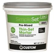 Custom Building Products Simpleset Gray Thin-set Mortar 1 Qt. Pack Of 6
