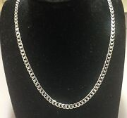 10k Solid White Gold Miami Cuban Curb Link 22 6.7 M 60gr Chain/necklace Wmc210
