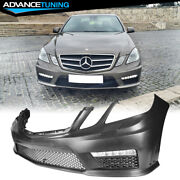 Fits 10-13 Mercedes Benz E Class W212 Amg Style Front Bumper Cover W/ Led Drl