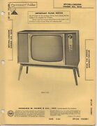 1963 Setchell Carlson 363 363a Television Service Manual Photofact Schematic Fix