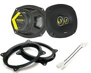 Kicker 46csc6934 6x9 3-way Coaxial Speakers With Adapters And Harness