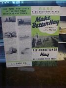 Case Side Delivery Rakes 3169 Horse Drawn 170 Tractor Brochure Folder Aba