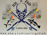 6 Surf / Pier Fishing Rigs Pompano Whitings Croakers Snappers Spots Etc.