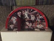 danbury Mint 2004 Alc Boston Red Sox Decorative Plate With Wood Stand