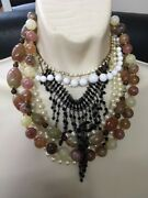Antique Retro Stone Beaded Necklaces/chokers Some Rare Will Separate Reduced Andpound50