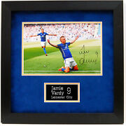 Jamie Vardy Leicester City Hand Signed Framed Photo.