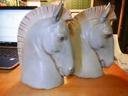 Lladro Horse Head Bookends By Salvador Furio Nice Pair Of Porcelain Horses 1970s