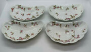 4 Bone Dishes Antique H And Co Haviland Pink Rose Limoges France Candy Dish Plate