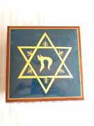 Reuge Music Star Of David Chai Trees Musical Jewelry Box Playing Hatikvah