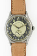 Revue Xclusive Small Second Bullseye Dial Manual Vintage Watch 1950and039s Overhauled