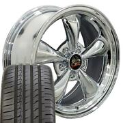 Fits 18 Chrome Bullitt Wheel And Tire Set Fits Ford Mustang